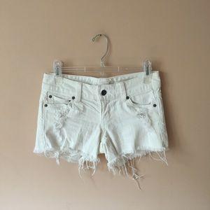 car mar white denim shorts